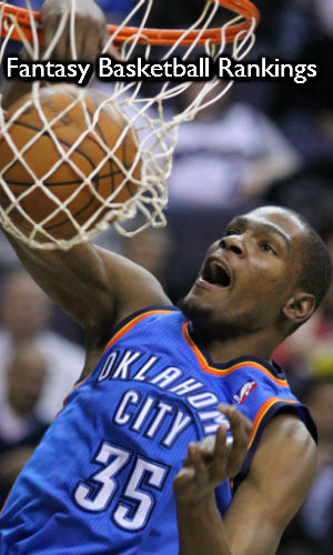 Kevin Durant Dunks in Coach Esser's ROS Fantasy Basketball Rankings for 2014